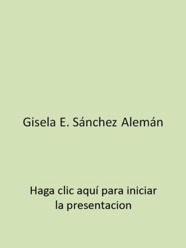 Gisela E. Sánchez Alemán